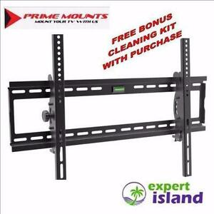 "New Prime Mounts RT 101 TV Tilt Wall Mount displays 32"" - 65"" up to 175 lbs With Bonus Screen Cleaner kit ($30 Value)"