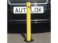 Unused drop down lockable security post for car/van.
