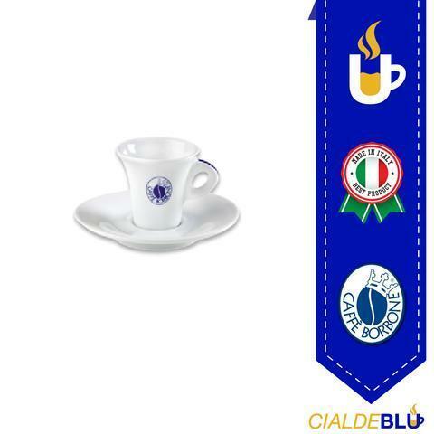 PROMO 300 CIALDE BORBONE + SET 6 TAZZINE CAFFE' CON PIATTINO MARCHIO BORBONE
