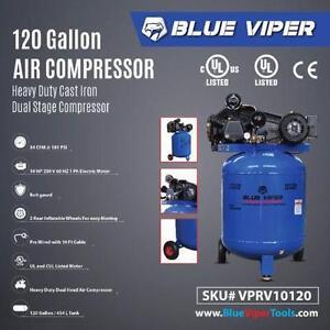 New 10 HP 220V 1PH Shop Air Compressor Vertical Tool 120 GALLON