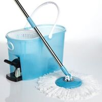 Spin Mop Cleaning System with Bucket and Microfiber Mop !