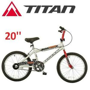 NEW* TITAN TOMCAT 20 BMX BIKE 100 245969606 SILVER RED BICYCLE BOYS KIDS
