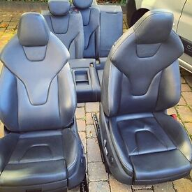 AUDI A5 S5 RS5 S LINE BLACK EDITION BUCKET SEATS COMPLETE 8T