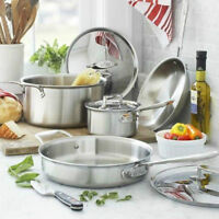 All-Clad D5 7-Piece Brushed Cookware 18/10 stainless-steel NEW