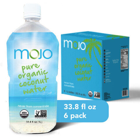 MOJO Pure Organic Coconut Water 1 Liter (6Pack)