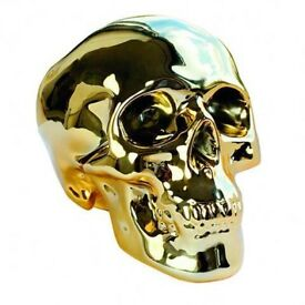 Urban Outfitters Gold Skull Moneybox