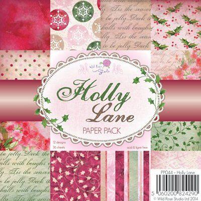 Papierblock Holly Lane 36 Blatt, 15x15cm Paper Pad Scrapbooking Designpapier Holly Lane