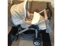 Silver Cross Pram Buggie car seat and Moses basket. Sold pending collection.