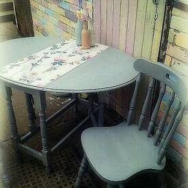 Spring inspired dropleaf dining table