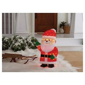 Tinsel Traditional Lighted Santa Lit Decor 2.5 ft tall BRAND NEW