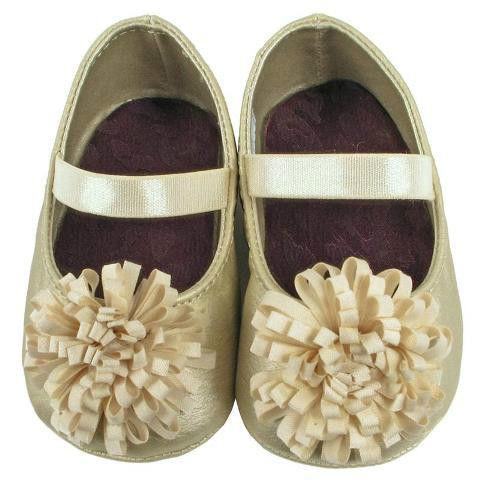 Gold Baby Shoes Size 3