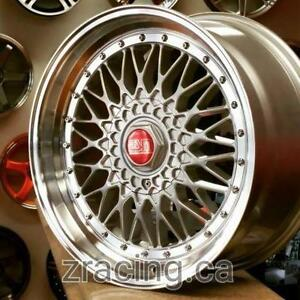 GM ESM002R BBS RS Style 18X8.5 18x9.5 5x100 5x112 (4 New wheels $750 CASH) PH 9056732828