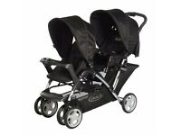 Graco Stadium Duo Tandem Pushchair with shopping baset and rain cover included