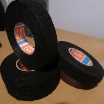 Tesa 51608 wiring loom tape 19 mm x 15 metres - black - high quality