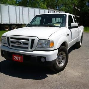 2011 Ford Ranger XL.2WD Glass racks. Certified.