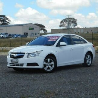 2010 Holden Cruze JG CD White 6 Speed Sports Automatic Sedan Run-o-waters Goulburn City Preview