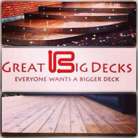 Do you want a Great Big Deck? We are booking spring builds!
