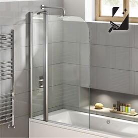 1000mm - 6mm straight easy clean shower screen
