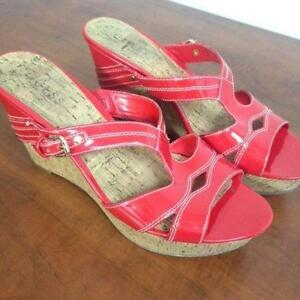 Womans Red Guess Sandals