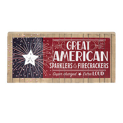 Darice Patriotic Fourth of July Americana Tabletop Sign: 13 x 5.91 inches - Fourth Of July Signs