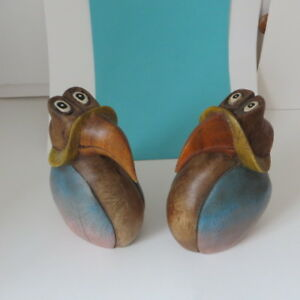 Hand carved, solid wood , Toucan birds, decor