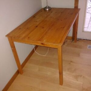 Ikea Solid Pine Dining Room Kitchen Table