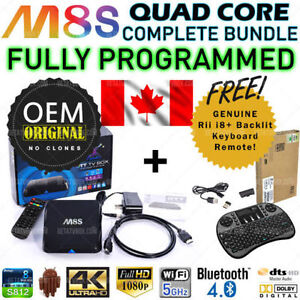 ★M8S Android TV Box IPTV OEM Amlogic Quad Core + Keyboard★