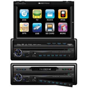 """Soundstream 7"""" Single DIN Flip Out TouchScreen, Bluetooth/DVD"""