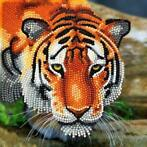 Crystal Card kit diamond painting The Tiger 18 x 18 cm