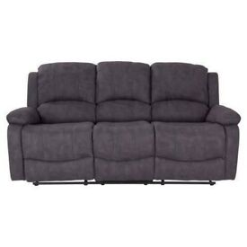 Brand new divo brown suede reclining corner sofa or 3 seater plus 2 seater