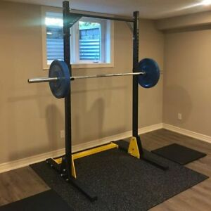 Heavy Duty half rack Pull up safety spotters