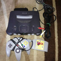 Nintendo 64 N64 with all cable 1 controller and Zelda