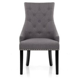6 x Ascot Dining Chairs Charcoal