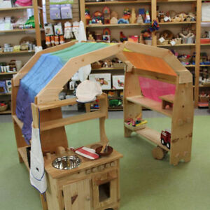 Wooden Play Stands, Kitchens, Fridges and More!