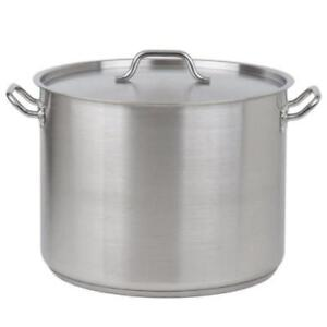 40 Qt. Heavy-Duty Stainless Steel Stock Pot with Cover *RESTAURANT EQUIPMENT PARTS SMALLWARES HOODS AND MORE*