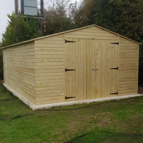 Garden Building - Handmade Wooden Workshop - Handmade Bespoke Wooden Garage.