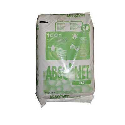Absorbent Granules - Absorbent Granules 20 litre bag For Oil, Water and liquid clean up. Eco-Friendly