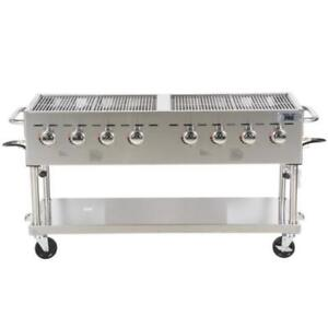 """Backyard Pro C3H860 60"""" Stainless Steel Outdoor Grill *RESTAURANT EQUIPMENT PARTS SMALLWARES HOODS AND MORE*"""