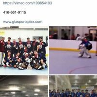 NHL Ball Hockey Rink Special $100/hr! Book now!