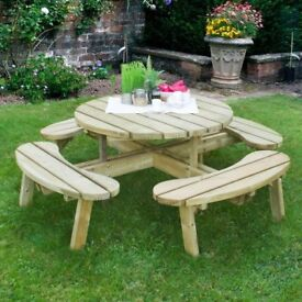 Round Picnic Table - Large - Heavy Duty