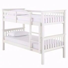 "🔥🔥Strong & Sturdy🔥🔥 Brand New Single Convertible Metal Bunk Bed & 9"" Deep Quilt Mattresses"