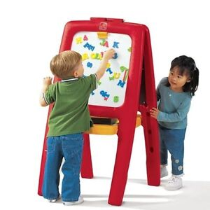 One sided red easel board from TOYS R US