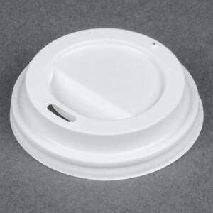 *RESTAURANT EQUIPMENT PARTS SMALLWARES HOODS AND MORE* oz. White Hot Paper Cup Travel Lid - 1000 / Case .
