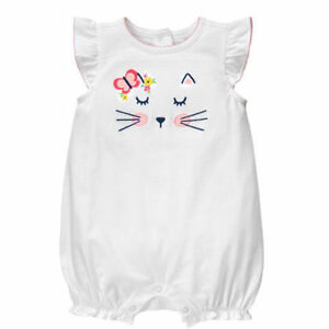 Baby girls Gymboree Kitty Face One piece.