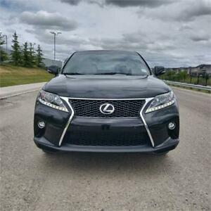 2015 Lexus RX 350 F-Sport,Black,Leather,sunroof,low km,$289 B/W