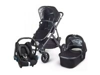 UPPAbaby Vista Pushchair Jake Black with Maxi-Cosi Cabriofix Black Raven Car Seat...Brand New!!!