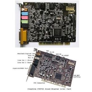 Creative Sound Blaster LIVE. PCI Sound Cards/ Win 7 Complient