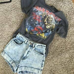 Iron Maiden shirt + 2 PAIRS of high waist shorts