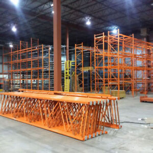 We buy used warehouse racking and industrial shelving