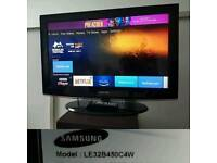 Samsung LE32B450C4W / 32ince LCD TV /3 hdmi / freeview / comes with remote /cash or swap